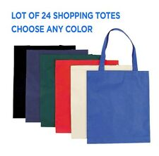 24 SHOPPING TOTE BAGS Grocery Bags Recycled Material WHOLESALE BULK LOT