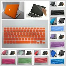 "3in1 11 Color Rubberized frosted Hard Case Cover For Macbook Pro 13""&15"" Cut-OUT"