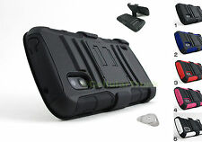 for LG Google Nexus 4 +Pry Tool Heavy Duty Hybrid Case & Belt Clip Holster Stand