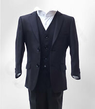UK BOYS FORMAL 3 PC PAGEBOY WEDDING PROM SUIT IN NAVY AGE 6 MTH TO 16 YRS