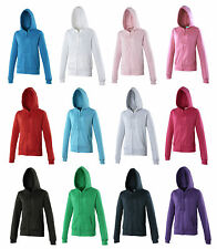 Womens Girlie Zoodie , ladies AWDIS Just Hoods Full Zip Hoodie, pocket hoodie