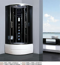 ★NEW 2014 STEAM SHOWER CUBICLE ENCLOSURE BATH CABIN★ ♥ 900mm, 1000mm ♥Radio♥2525