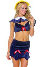 3WISHES Women's Parisian Schoolgirl Costume Cute School Girl Halloween Costumes