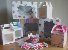 Cupcake Boxes Hold 1 - 4 & 6 & Cupcake/Muffin Wrappers
