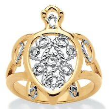 Filigree Turtle Ring in 18k Gold-Plated