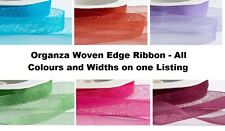 Organza Woven Edge Ribbon - Wedding Christening Craft Decoration - One Listing