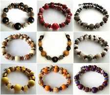 ETHNIC INSPIRED: TRIBAL WOMENS SHORT CHOKER CHUNKY CHAIN NECKLACES CHOOSE STYLE