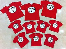 Dr. SEUSS THING ONE 1 2 3 4 5 6 INFANT/YOUTH/ADULT T SHIRT Cat in the hat . NEW
