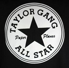 TAYLOR GANG All-STAR WIZ KHALIFA RETRO BLACK ADULT RAP SHIRT T-SHIRT TEE S-XXL