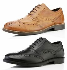 Red Tape Bradshaw Mens Leather High Quality Brogue Lace Up Shoes