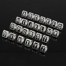 Wholesale Alphabet Letter Silver Plated European Beads Fit Charm Bracelet BUY84