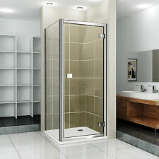 NEW Hinge Pivot Shower Door Chrome Enclosure Easy Clean Stone Tray 800 and 900