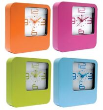 Free Standing Or Wall Mounted Reto Funky Alarm Clock In 4 Different Colours /NEW