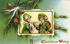 Vintage Victorian Christmas Wishes Quilting Fabric Block