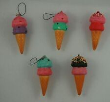 Ice Cream Cone Squishies Kawaii Strawberry with Other Flavored Ice Cream Squishy