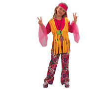 CHILD GIRLS HIPPY COSTUME, 1960S, 1970S, ,4-5YRS,6-7YRS,8-9 YRS BNWT