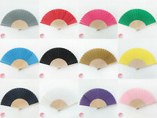 FANTASTIC Wooden/Fabric Hand fan  various colours available