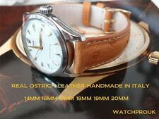 REAL OSTRICH LEATHER STRAP FOR VINTAGE ROLEX,LONGINES, Jaeger le Coultre,CARTIER