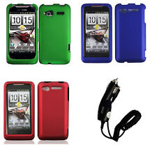 Car Charger + Faceplate Hard Cover Phone Case for HTC Merge Lexikon ADR6325