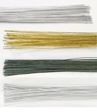 FLORIST WIRES VARIOUS COLOURS & GAUGES FOR CAKE DECORATING OR SUGARCRAFT