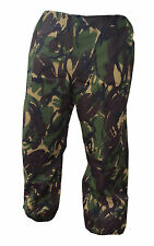 TROUSERS WATERPROOF GORETEX TROUSERS BRITISH ARMY ISSUE - DPM CAMOUFLAGE - USED