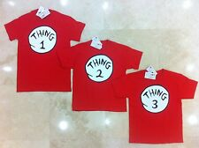 New Dr. Seuss Thing 1 2 3 4 5 6 Adult Youth T-Shirt . BUY TODAY - SHIP TODAY !