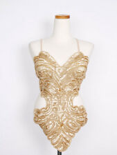 Lace up back sequin beaded top open back glitter sequin embellished top clubwear