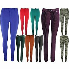 Ladies Stretchy Coloured Skinny Slim Fit Denim Womens Jeans Size 6 8 10 14 16