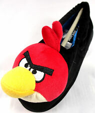 New Boys Girls Angry Birds Black Red Full Slippers Sizes 10 11 12 13 1 2