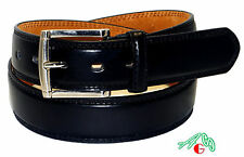 MEN CASUAL /DRESS Slim LEATHER BELT BLACK  Sizes 48/ 52/ 56 / 58 / 60 / 62 / 64