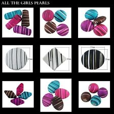 Rubberised & Spray Painted Drawbench Beads 9 Shapes, 9 colours UK SELLER