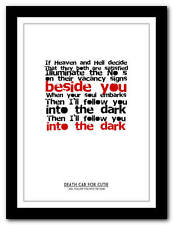 DEATH CAB FOR CUTIE - I Will Follow You - song lyric poster art print - 4 sizes