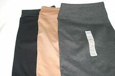 Ellen Tracy Ponte Straight Slim Pencil Stretch Skirt L XL 2XL Black Camel Gray