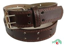 KIDS 2 Hole Punch Leather Belt Brown Size  S / M / L / XL $4.95 free shipping