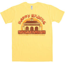 Neuen Herren T Shirt -  Happy Ending Massage Parlour T Shirt