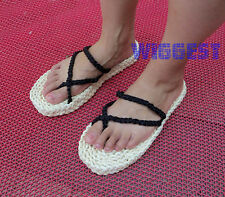 Handmade One Piece Monkey D Luffy Cosplay Straw Shoes Sandals Slipper Costume