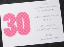 Personalised Birthday Party Invitations & Thank You Cards - Female/Male -ANY AGE
