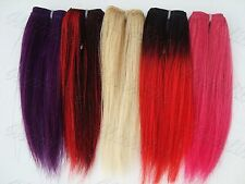 """Hair Extensions Blonde Purple Pink T1B/Red Ombre P1B/Red 6"""" Long 30"""" or 60"""" Wide"""