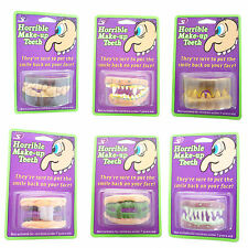 Funny Teeth Joke Teeth False Teeth Vampire Teeth Werewolf Halloween Party Teeth