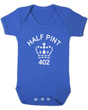 Funny Baby Vest. Half Pint. Baby Grow Vest From B-Shirts.