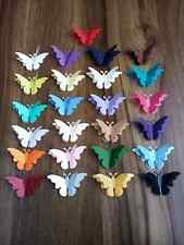 20 LARGE 3D PEARLESCENT SHIMMER BUTTERFLY CONFETTI Wedding Table Confetti Topper