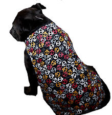 LARGE BREED Black Skulls Dog Singlet - Clothes Coat T Shirt Jacket Big XXL XXXL