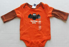 BABY GAP Boy's 'TEETHING BITES' Halloween Bat Bodysuit Shirt Up to 3 Months