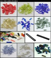 Seed Bugle Beads AB Colour, Twist, Long. Choose your style and colour. UK SELLER