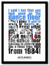 ARCTIC MONKEYS - dance floor - song lyric poster typography art print - 4 sizes
