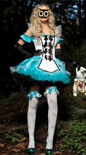 Alice In Wonderland Fancy Blue Lady Dress Costume cosplay Polyester UK 8-14