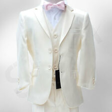 NEW BOYS CREAM SUIT ITALIAN CUT PAGEBOY WEDDING PROM DINNER SUIT AGE 3 TO 15 YRS