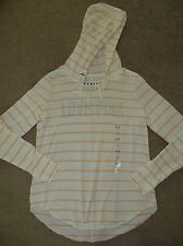 VICTORIA'S SECRET PINK ORANGE STRIPED SLOUCHY PULLOVER TUNIC HOODIE SWEATSHIRT
