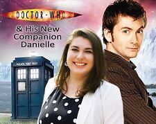 Your picture on a custom T shirt with David Tennant! 10th Doctor Who Tardis