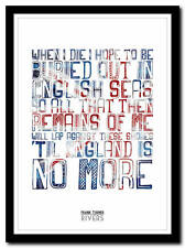 FRANK TURNER - Rivers - song lyric poster typography art print - 4 sizes
